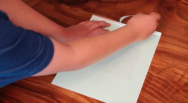 removing strip from paper