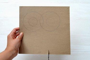 Cut straight slits under the circles.