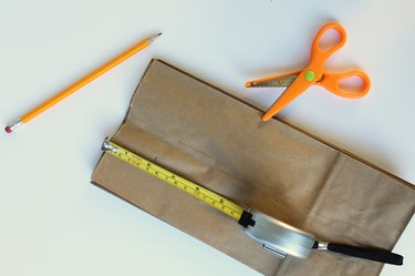 Cut the top of the bag with pinking shears