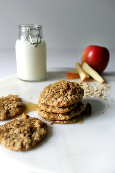 Learn how to make Apple Oatmeal Cookies With Brown Butter Icing