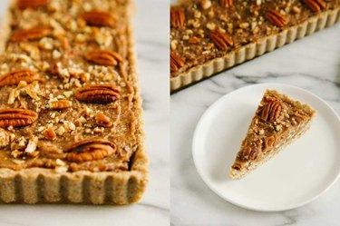 No-Bake Pecan & Date Tart