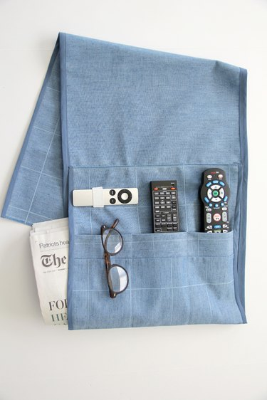 Press remote caddy for a clean finish