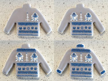 R2-D2 Ugly Christmas Sweater Cookie Steps 17-20