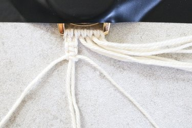 Tie a second square knot