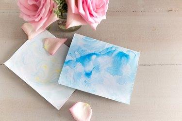Marbled ink paper
