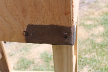 Cover ventilation holes with screen material.