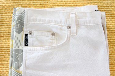 finished pants with fabric gussets