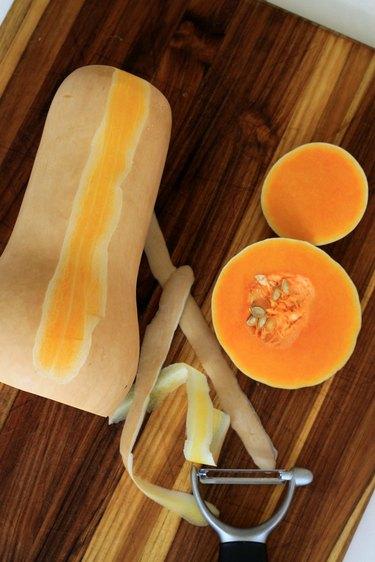 butternut squash peel