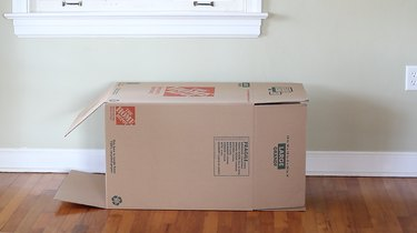Large box on its side