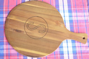 Easy tutorial to make a monogrammed cheese board