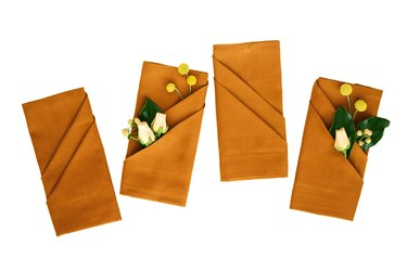 Fall Napkins with Flowers
