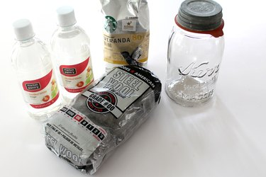 How to create a homemade wood stain using coffee grounds