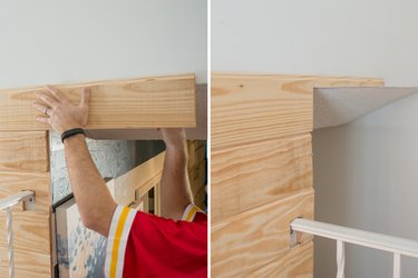 How to cut around obstructions for a plank wall.