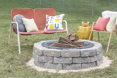 Styled fire pit