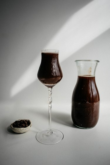 This delicious Chocolate infused Vodka can be used in cocktails or enjoyed straight!