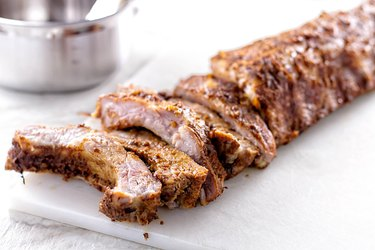 Grilled Baby Back Ribs with Apple Butter BBQ Sauce
