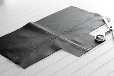 use pattern to cut out leather