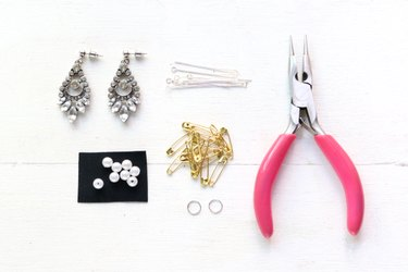 Supplies for punk chic rhinestone earrings