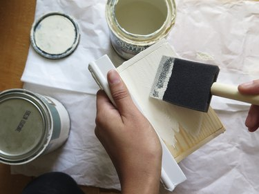 Paint the wood box.