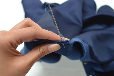 Sew the pleat together