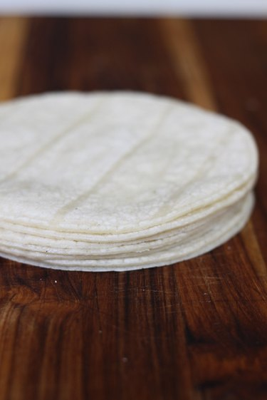 stack of oiled tortillas
