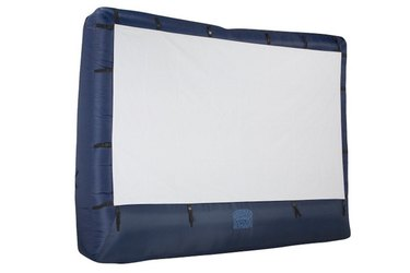 Host your own backyard movie marathon with this convenient inflatable movie screen.