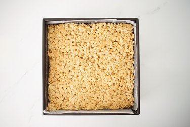 Mixture spread into an even layer.