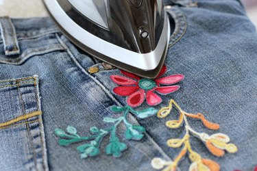 press embroidery to jeans