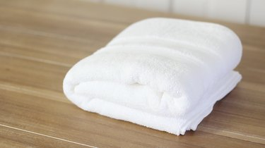 French-style folded towel