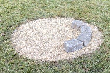 DIY fire pit stones