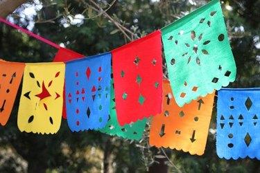 Mexican Cutout Flag Banners