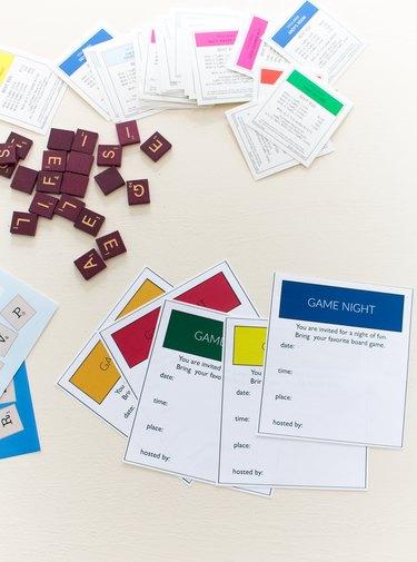 Monopoly game night invitations