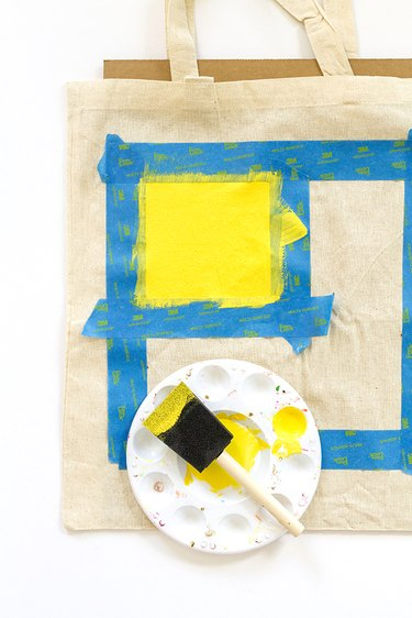 mask and paint squares