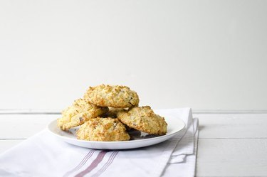 Bacon-cheddar biscuits.