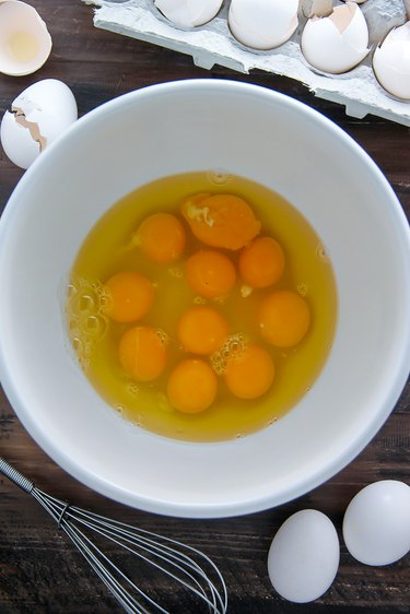 Crack eggs into a medium-large bowl.