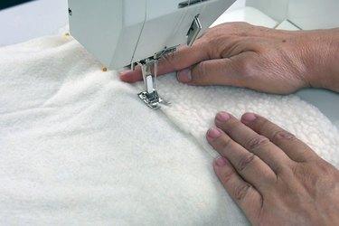 Stitch the cuff in place.