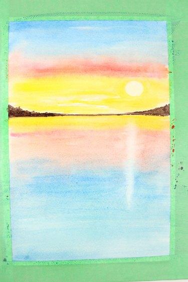 Draw reflection of sun.