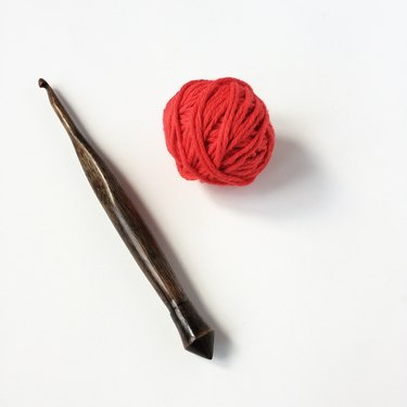 Yarn and hook.