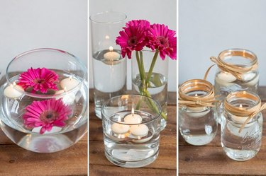 How to Make Floating Candle Centerpieces for a Wedding