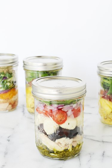 Salad in a jar.