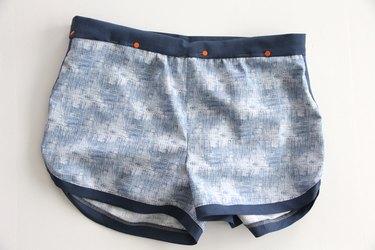 pin waistband to inner shorts