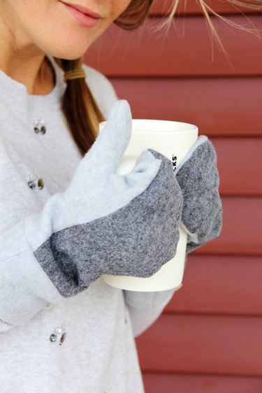 how to sew your own wool and fleece mittens