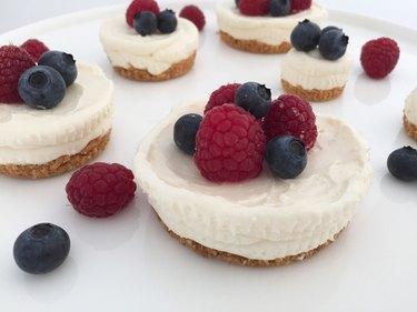 No-bake cheesecakes.