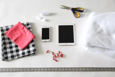 Materials needed to sew an iPad case