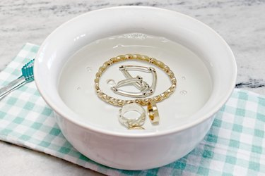 DIY natural jewelry cleaner