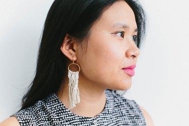 Mini macrame earrings
