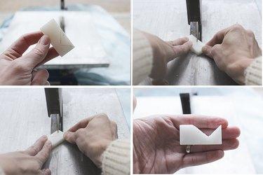 Cutting small tile multidirectionally