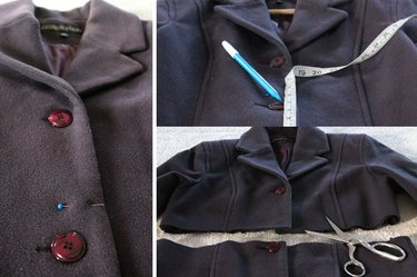 Measure, mark and cut the new coat length.