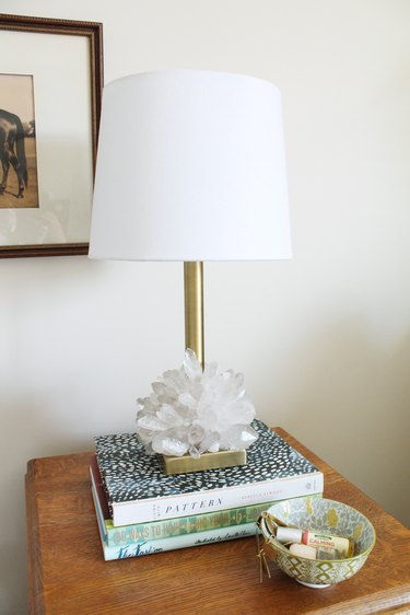 How to Make a Crystalized Lamp Base