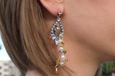 Finished punk chic rhinestone earrings